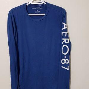 Aeropostale blue long sleeve shirt size large
